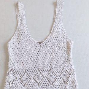 ASOS - crochet white summer dress, size small